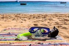 Maskering och snorkel Arkivfoto