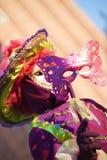 Maskering på karneval, Piazza San Marco, Venedig, Italien Arkivfoton