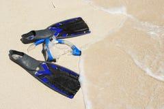 maskering som snorkeling Royaltyfria Bilder