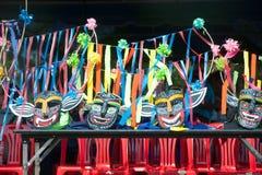 Maskeringar av traditionellt av den Phi Khon Nam showen Royaltyfria Bilder