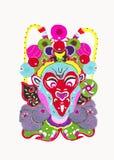 Maskeringar för ansiktsbehandling för Pekingopera Royaltyfri Bild