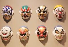 Maskeringar för ansiktsbehandling för Pekingopera Arkivfoton