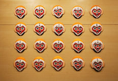 Maskeringar för ansiktsbehandling för Pekingopera Fotografering för Bildbyråer