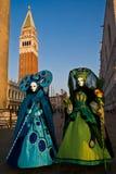 Maskeringar karneval av Venedig Arkivbilder
