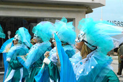 Maskeringar på den Viareggio karnevalet fotografering för bildbyråer