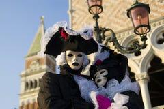 Maskeringar på den Venedig karnevalet Arkivfoto