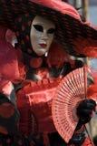 Maskeringar på den Venedig karnevalet Arkivfoton