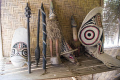 Maskeringar Rabaul, Papua Nya Guinea Arkivfoton