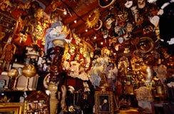 maskeringar shoppar venice Royaltyfri Fotografi