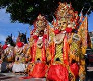 Maskeringar som används för tempelceremonier Arkivbilder