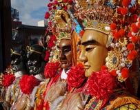 Maskeringar som används för tempelceremonier Fotografering för Bildbyråer