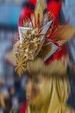 Maskeringen deltar i på karnevalet av Venedig Royaltyfria Foton