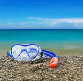 Maskerings- och snorkeldykning Arkivfoton