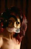 maskeringskvinna Royaltyfri Fotografi