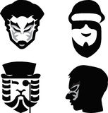 Maskeringsman vektor illustrationer
