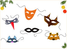 maskers Stock Foto's