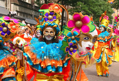 Maskers in Carnaval Stock Foto
