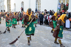 Maskers in Carnaval Fastnacht Royalty-vrije Stock Foto
