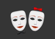 Maskers en gevoel Stock Foto's