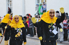 Maskers i karnevalet Fastnacht Royaltyfria Foton