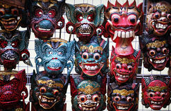 Maskers in Thailand Stock Foto's