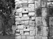 Maskers van de Ruïneschac van Chichenitza Mayan Stock Fotografie