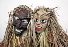 Maskers van inheemse mensen Royalty-vrije Stock Foto's