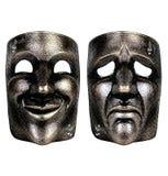 Maskers van tragedie en komedie Royalty-vrije Stock Foto's