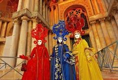 Maskers in Venetië Royalty-vrije Stock Fotografie