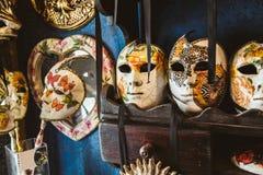 Maskers in Venetië stock foto's