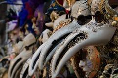 Maskers in Venetië, Italië Stock Foto's
