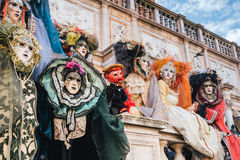 Maskers, Venetiaans Carnaval 2017 Royalty-vrije Stock Afbeelding