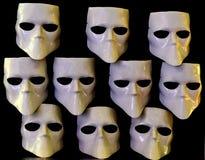 Maskers voor anoniem stock foto