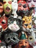 Maskers voor Halloween Stock Afbeeldingen