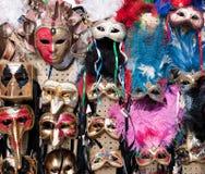 Maskers voor verkoop - Venetië Carnaval 2011 Royalty-vrije Stock Foto's