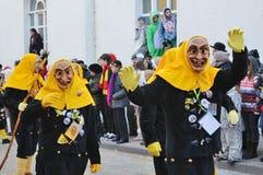 Maskers w karnawałowym Fastnacht Zdjęcia Royalty Free