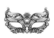 Maskersilhouet Royalty-vrije Stock Afbeelding