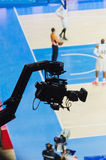 Basketball match broadcasting Royalty Free Stock Photos