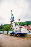 Maskin för att trava Konstruktionsmaskineri på platsen för cet Royaltyfri Fotografi