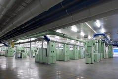 Maskin för fabriksbomullssnurr Fotografering för Bildbyråer