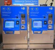 Maskin för Melbourne drevbiljett Arkivfoton