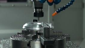 Maskin för MetalworkingCNC-malning arkivfilmer