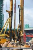 Maskin för tråkmånshögrigg i konstruktionsplatsen Royaltyfria Bilder