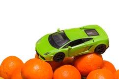 Maskin på orange apelsiner Royaltyfri Foto