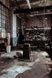Maskinen shoppar - Hasselträ-Kartbok Exponeringsglas Företag - att rulla, West Virginia Royaltyfri Fotografi