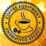 Maskiner eller tillverkare för kafé för kaffeutrustningbetydelse stock illustrationer