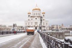 Maskiner för snöborttagning Royaltyfria Bilder