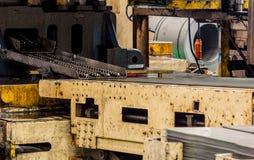 Maskiner i fabriker Arkivbild