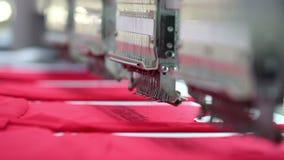 Maskiner och mekanism av att v?va fabriken i arbetet stock video