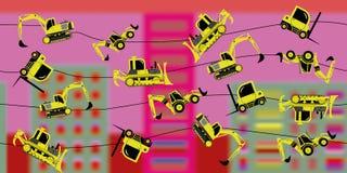 Maskineri för Ð-¡ onstruction på en tråd Arkivbild